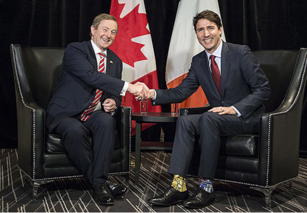 Justin Trudeau and Enda Kenny